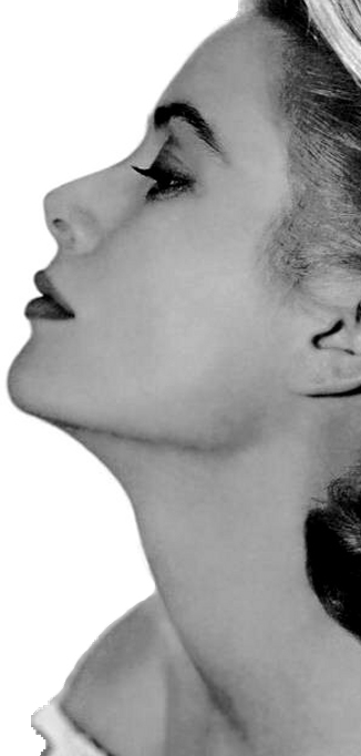 Grace Kelly in profile
